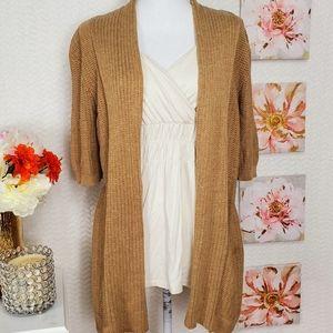 Apt.9 tan  cardigan + blouse size L NEW